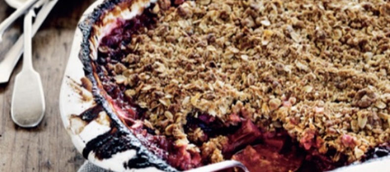 Recipe: Maggie Beer's Apple and Rhubarb Crumble